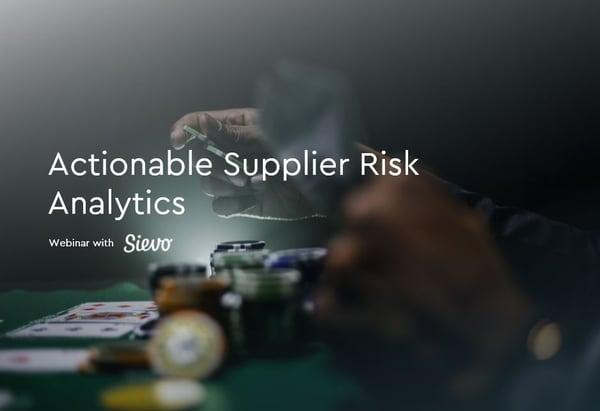 Supplier Risk Analytics-1