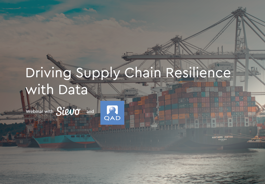 Supply chain resilience with data